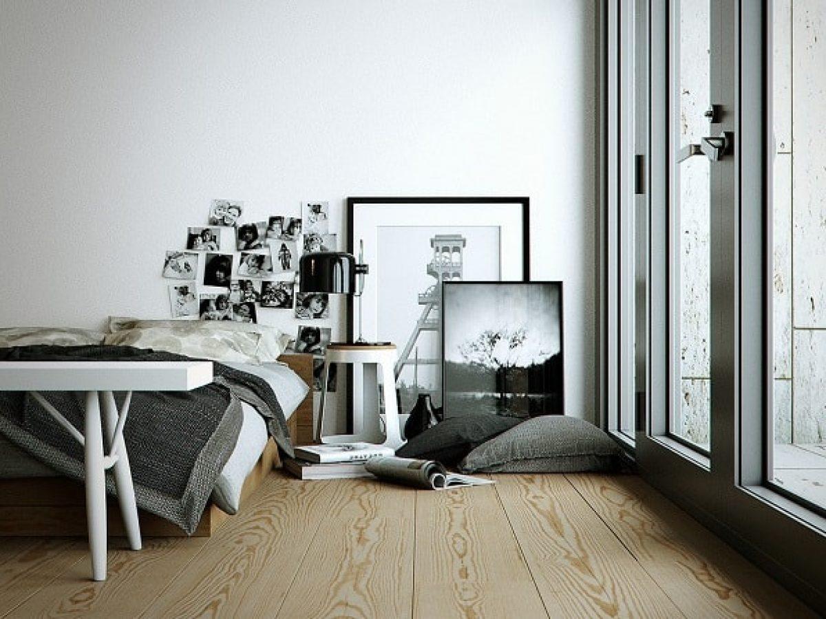 4+ Dekorasi Kamar Nuansa Monokrom Yang Modern dan Elegan