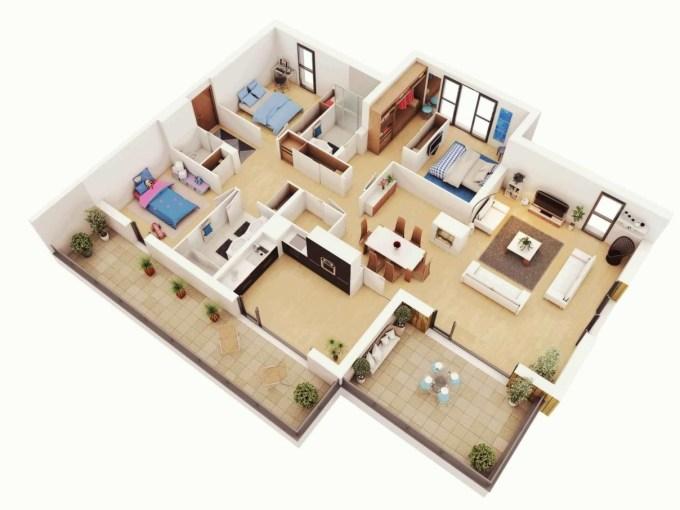 7300 Gambar Desain Rumah 3 Kamar Simple Yang Bisa Anda Contoh Unduh