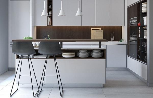 Hasil gambar untuk Desain Interior Dapur Minimalis dengan Warna dan Tekstur Alami