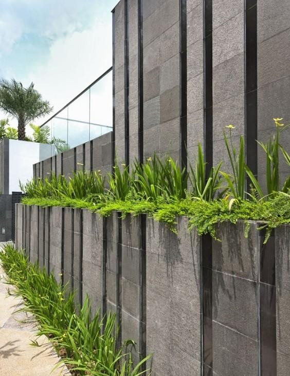Inspirasi Desain Pagar Tembok 8