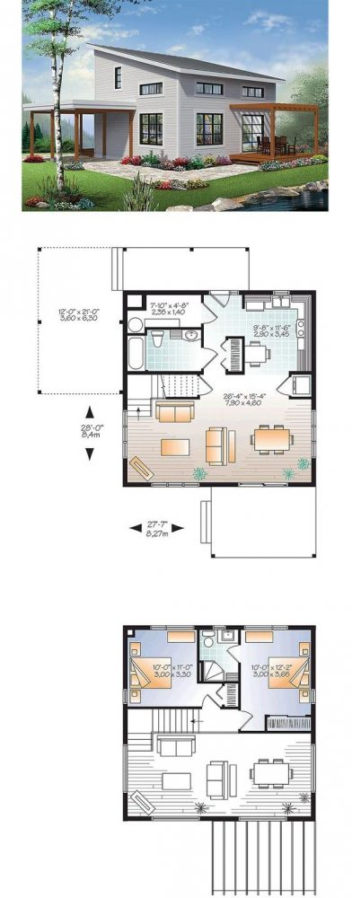 denah rumah minimalis 2 lantai 5