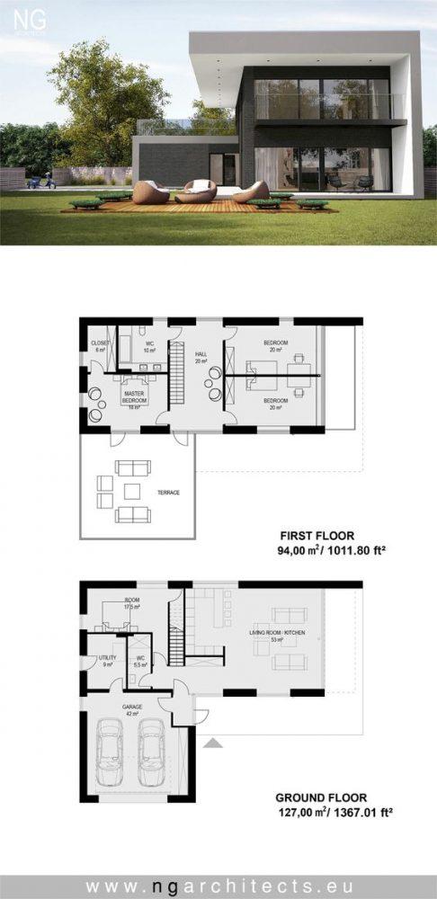 denah rumah minimalis 2 lantai 6