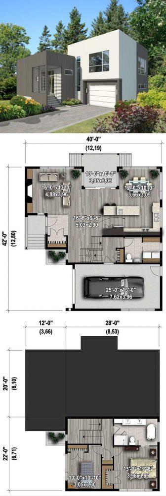 denah rumah minimalis 2 lantai 8