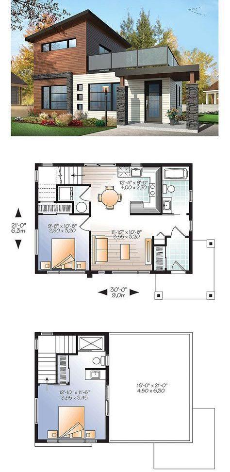 denah rumah minimalis 2 lantai 9
