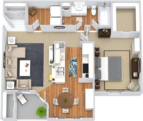 denah rumah minimalis modern 1