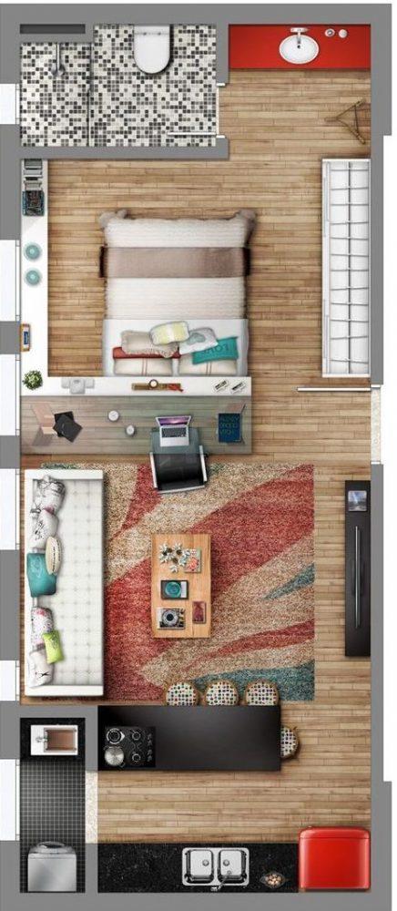 denah rumah minimalis modern 10