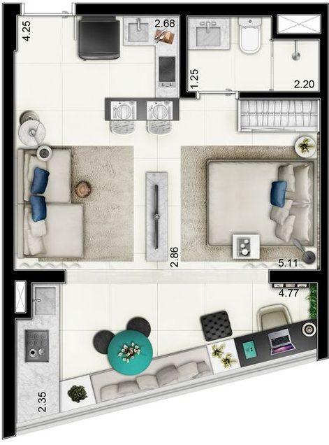 denah rumah minimalis modern 11