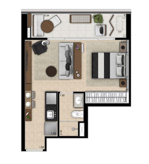 denah rumah minimalis modern 14