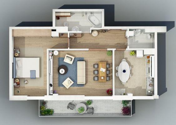 denah rumah minimalis modern 15