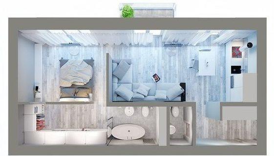 denah rumah minimalis modern 16