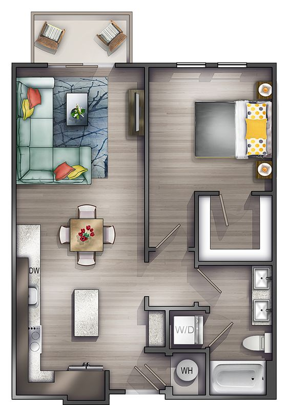 denah rumah minimalis modern 18