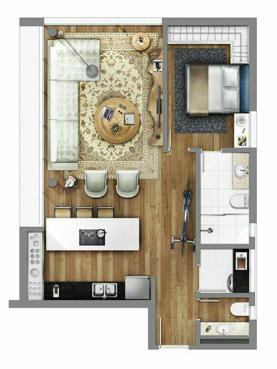 denah rumah minimalis modern 20