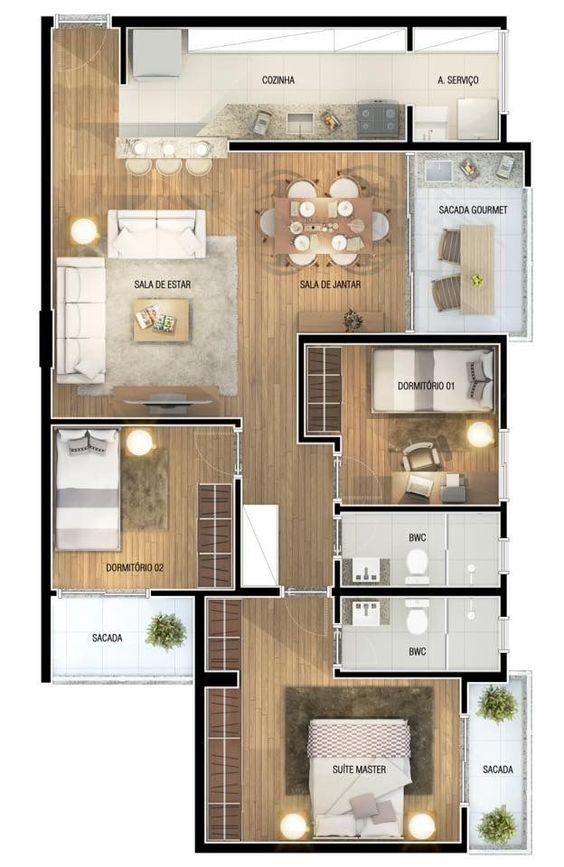 denah rumah minimalis modern 22