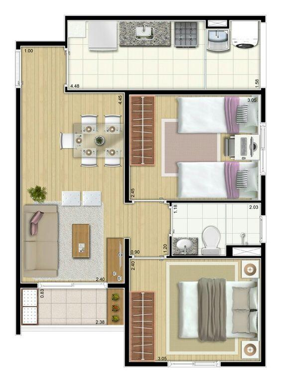 denah rumah minimalis modern 23
