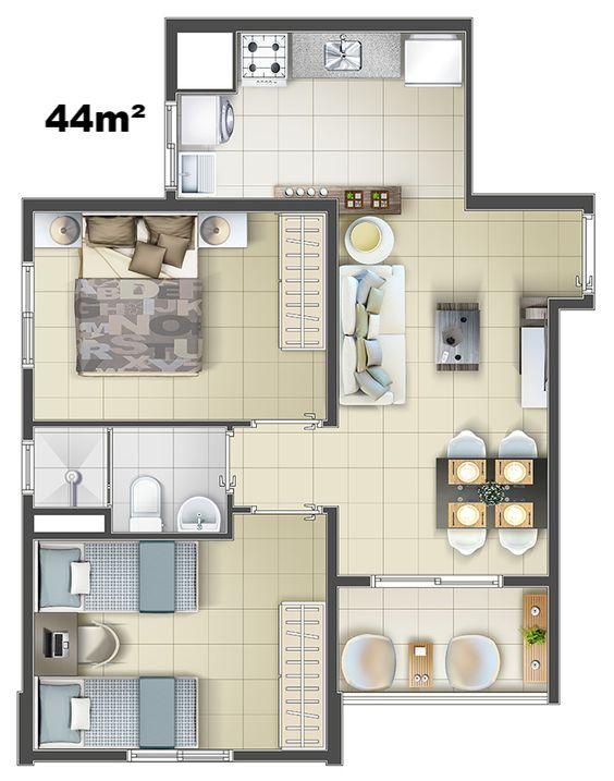 denah rumah minimalis modern 24