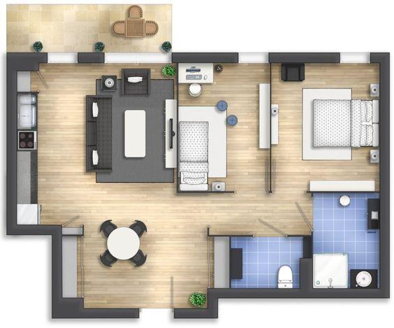 denah rumah minimalis modern 3