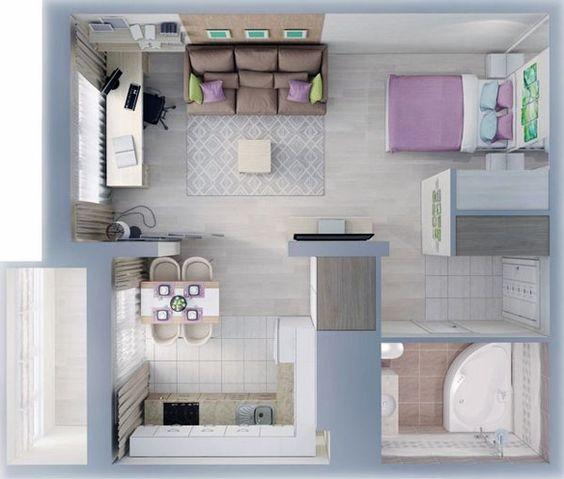 denah rumah minimalis modern 5