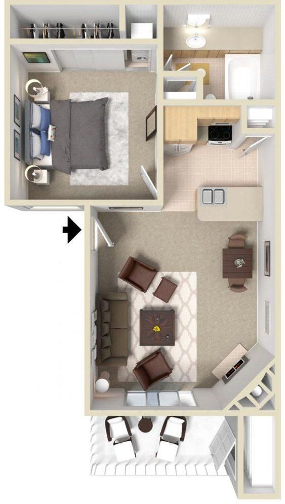 denah rumah minimalis modern 6