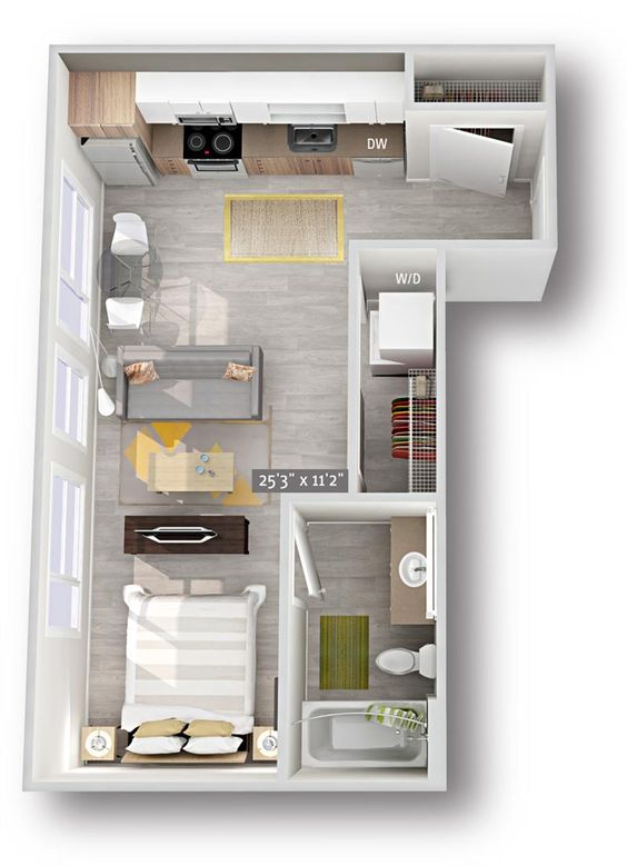 denah rumah minimalis modern 7