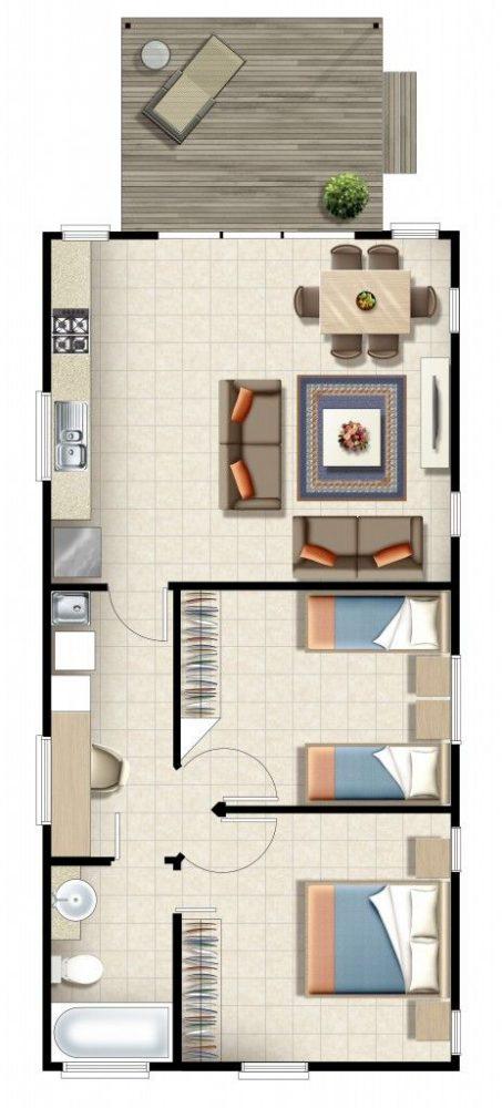 denah rumah minimalis modern 8