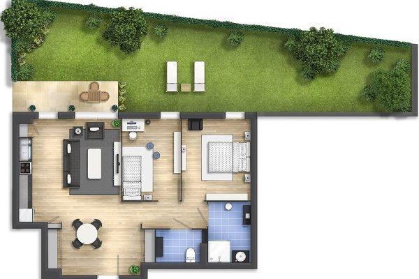 denah rumah minimalis modern feature