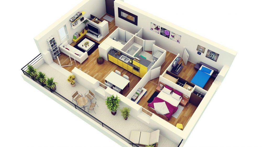 Desain Dan Denah Rumah Minimalis 2 Kamar
