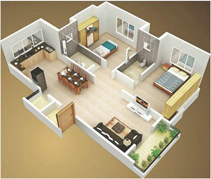 Denah Rumah 2 Kamar 3D: Rumah Idaman Untuk Keluarga Kecil Anda!