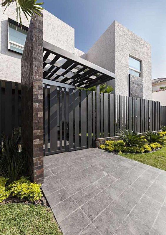 10 Inspirasi Desain Pagar Rumah Minimalis Modern Yang Elegan