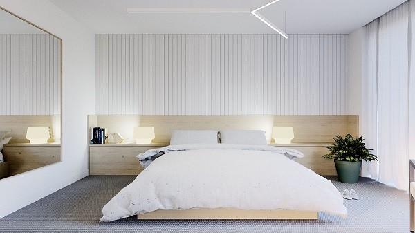 desain kamar tidur minimalis feature