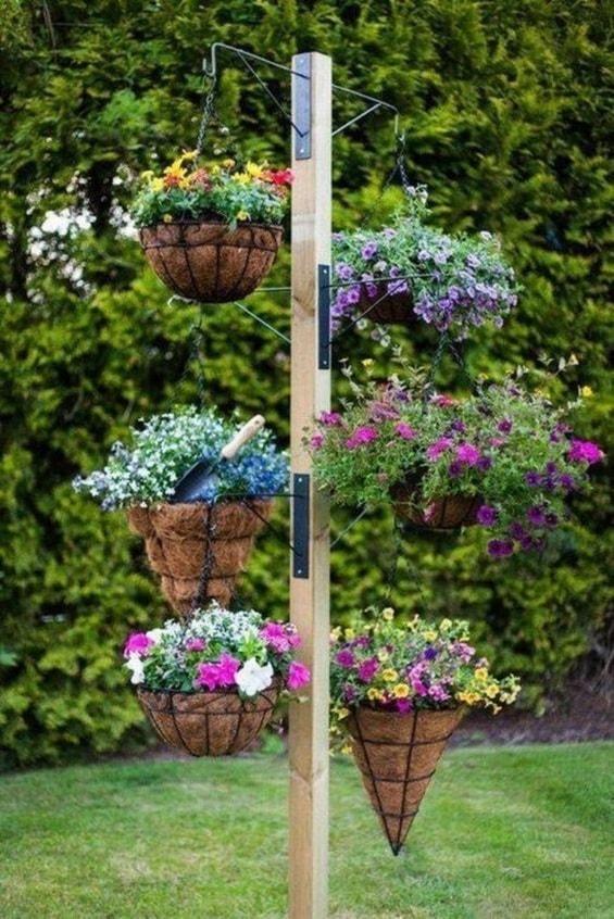 Desain Taman Dengan Barang Bekas  desain taman gantung yang akan membuat hunian semakin indah