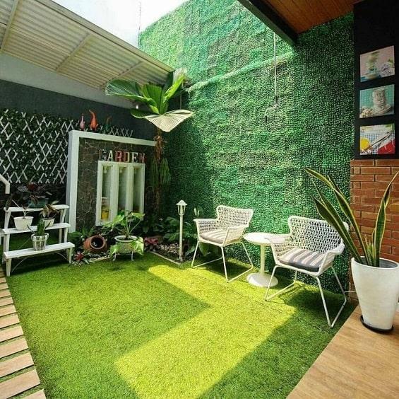 Contoh Desain Taman Belakang Rumah Minimalis Yang Elegan