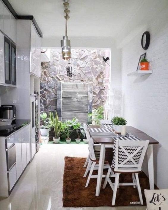 Design Dapur Menyatu Dengan Taman  desain ruang makan minimalis terbaik sebagai inspirasi