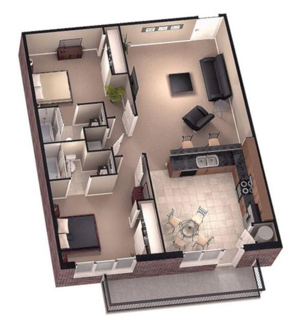 Desain Rumah Minimalis Sederhana 1 Lantai 2 Kamar