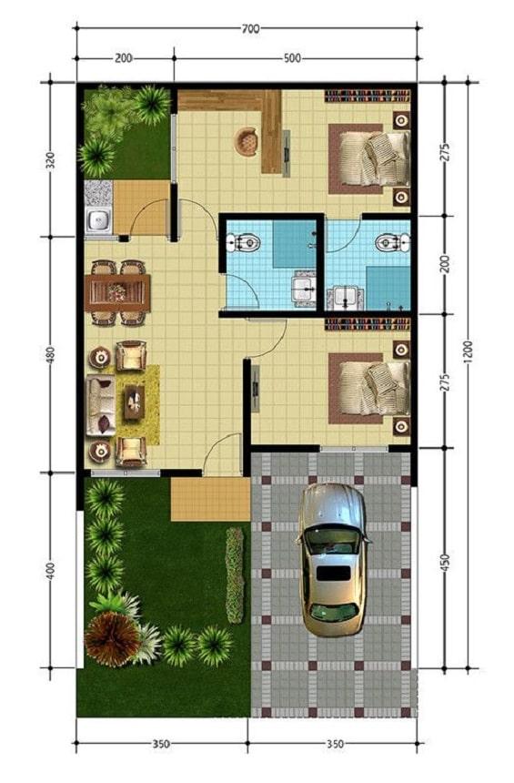gambar denah rumah lantai 1