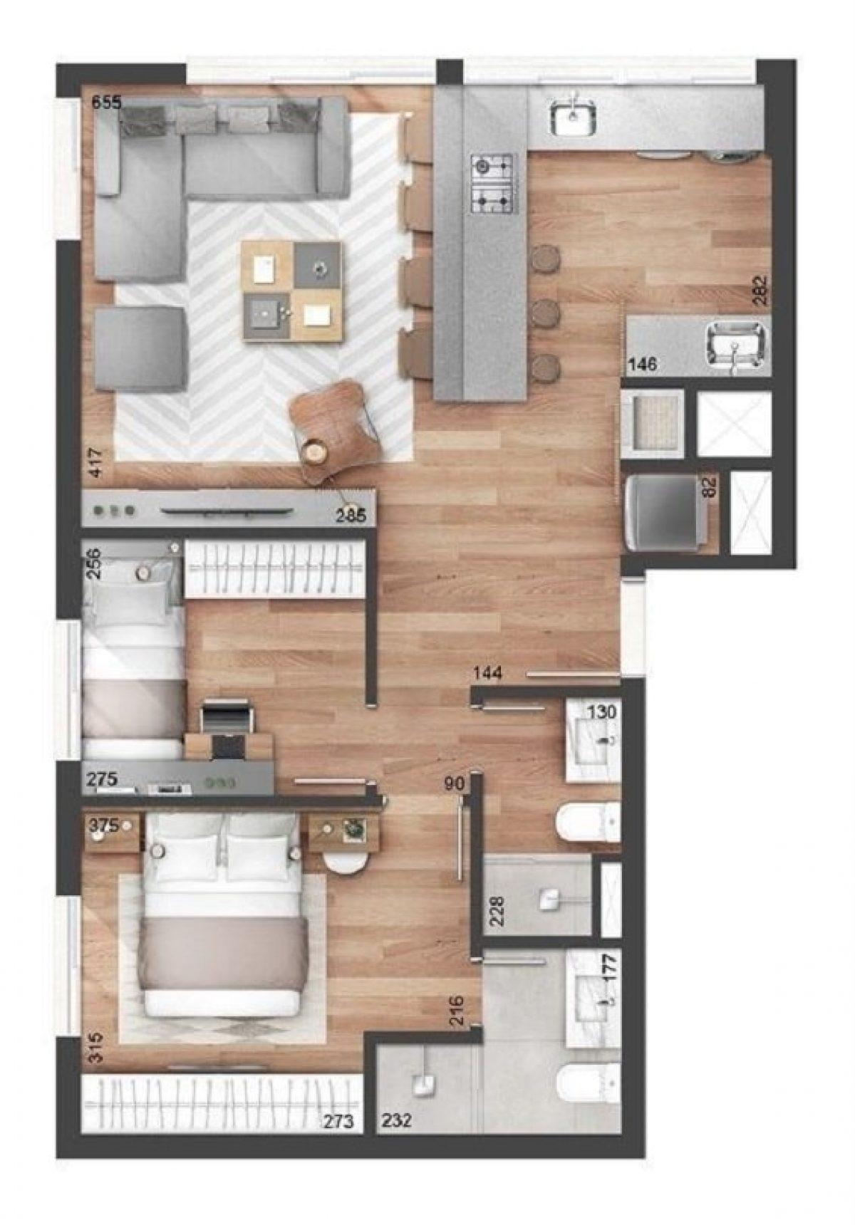 Denah Rumah Minimalis Modern Terbaru 1 Lantai yang Simpel