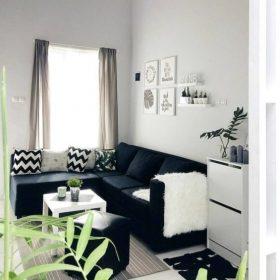 desain ruang tamu kecil sederhana yang menawan