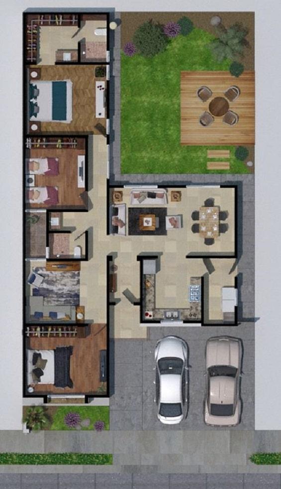 Denah Rumah Sederhana 3 Kamar Yang Modern