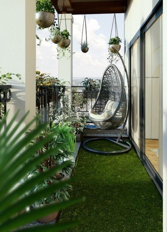Desain taman gantung minimalis 7